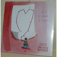 """Calendrier 2018 20 x 20 Anne-Sophie Rutsaert """"Et si on s'aimait ..."""""""