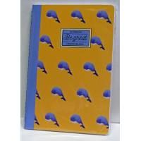 """Petit Carnet LEGAMI A6 """"Be Great"""" Baleines 48 pages lignées"""