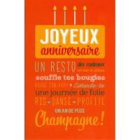 Carte Alice de Page Joyeux Anniversaire Champagne!