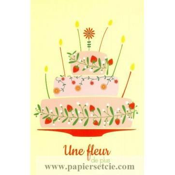 Carte Alice de Page Bon Anniversaire Une Fleur de plus