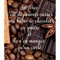 """Carte Chocolat """"La Force c'est de pouvoir casser..."""""""