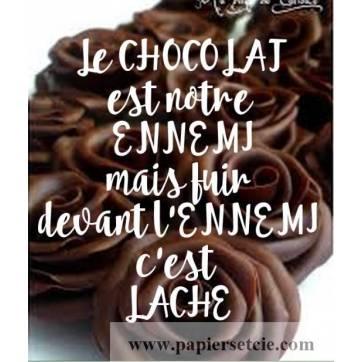 """Carte Chocolat """"Le Chocolat est notre ennemi..."""""""