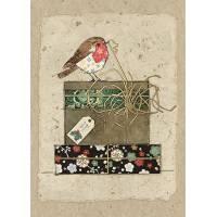 Carte double Rouge Gorge et cadeaux