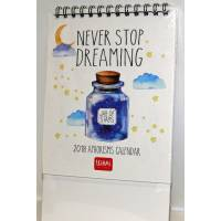 "Calendrier 2018 LEGAMI 12 x 14,5  ""Never stop dreaming"""