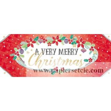 "Carte double """"A Very Merry Christmas"""