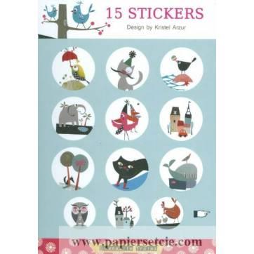 Stickers Gwenaëlle Trolez Chats de Kristel Arzur