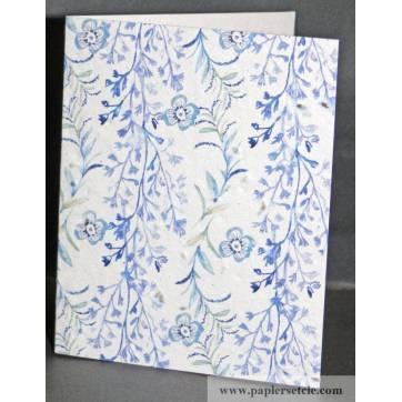 Carte à planter Hannah Marchant fleurs bleues persil
