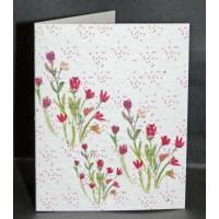 Carte à planter Hannah Marchant bouquet de fleurs rouges, graines Fleurs des champs