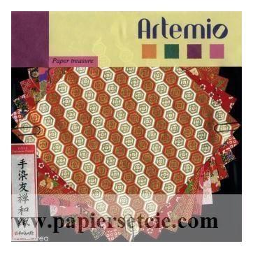 Papier Origami japonais Artemio Yuzen Rouge