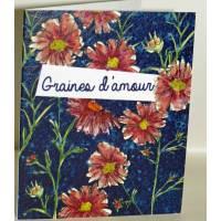 """Carte à planter Hannah Marchant """"Graines d'Amour"""", fleurs bleues, graines Fleurs des champs"""