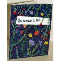 """Carte à planter Hannah Marchant """"Je pense à toi"""" , graines Fleurs des champs"""