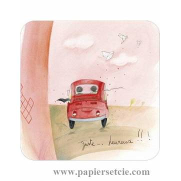 "Carte Anne-Sophie Rutsaert ""Juste Heureux"""