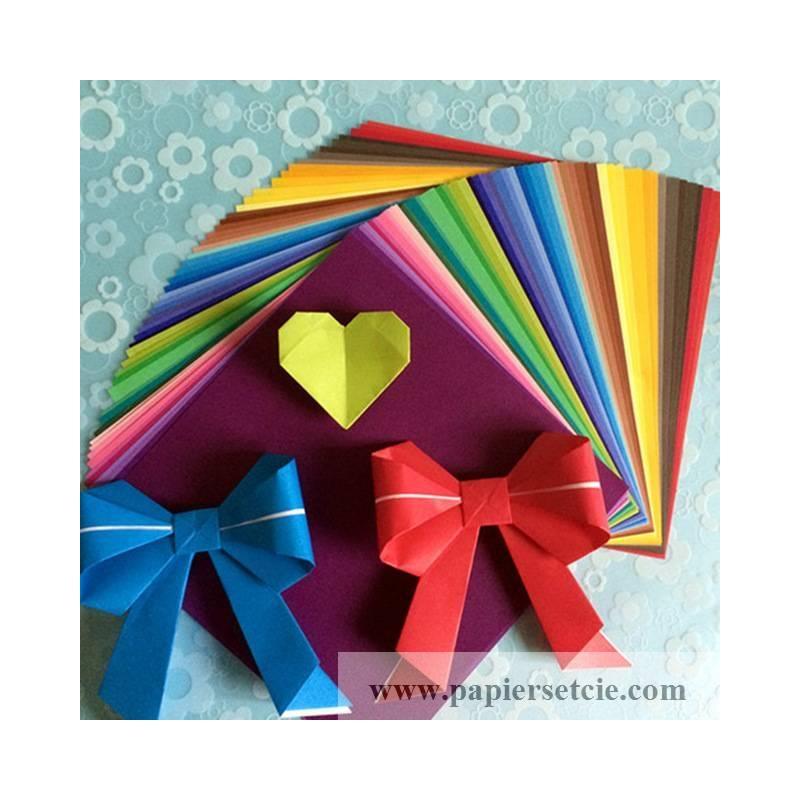 papier origami japonais feuilles unies multicolores. Black Bedroom Furniture Sets. Home Design Ideas