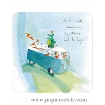 """Carte Anne-Sophie Rutsaert """"Si la retraite maintenant""""..."""