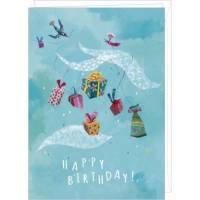 """Carte double Izou 17 x 12 """"Happy Birthday les Cadeaux"""""""