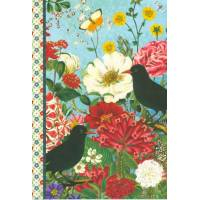 Carnet à mots de passe Gwenaëlle Trolez Fleurs et Oiseaux