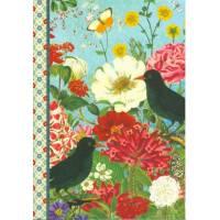 Carnet Pages unies Gwenaëlle Trolez Fleurs et Oiseaux