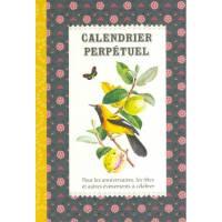 Calendrier d'anniversaires perpétuel Gwenaëlle Trolez Oiseaux et Fruits