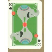 Carte anglaise double série carte à jouer Joker Elephants