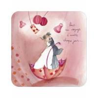 """Carte Anne-Sophie Rutsaert """"Pour un voyage d'Amour chaque jour"""""""