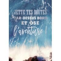 """Carte Citation """"Jette tes doutes par-dessus bord et ose l'aventure"""""""