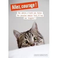 """Carte double """"Allez courage, la peur c'est un truc de poule"""""""