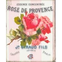"""Carte artisanale Vintage """"Rose de Provence"""""""