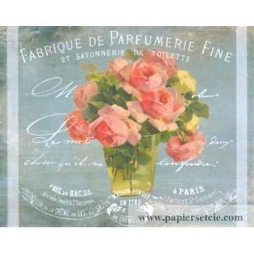 """Carte artisanale Vintage """"Fabrique de Parfumerie fine"""""""