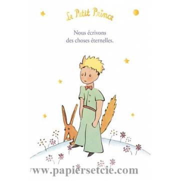Carte Citation Le Petit Prince Doree Nous Ecrivons Des Choses