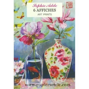 Pack de 6 Posters Affiches Gwenaëlle Trolez Fleurs de Sophie Addé