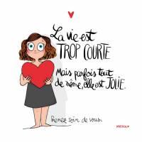 """Carte Mathou """"La vie est trop courte"""""""