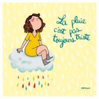 """Carte Mathou """"La pluie c'est pas toujours triste"""""""
