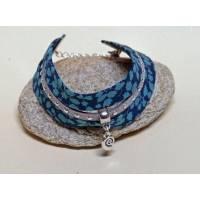 Bracelet Liberty Manchette Biais Liberty Glenjade Turquoise