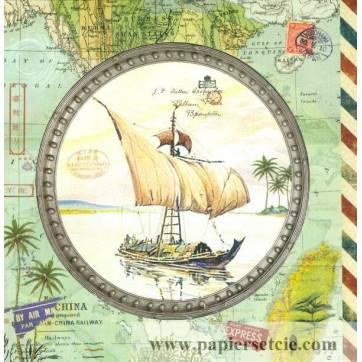 Carte d'art Gwenaëlle Trolez La Jonque