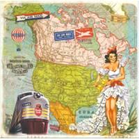 Carte d'art Gwenaëlle Trolez Amérique du nord