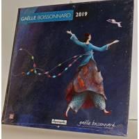 "Calendrier 2019 30 x 30 Gaëlle Boissonnard ""Guirlande bleue"""
