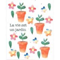 Carte à planter La Vie est un Jardin, Fleurs des champs