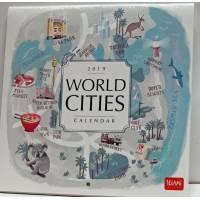 Calendrier 2019 LEGAMI 18x18 cm World Cities