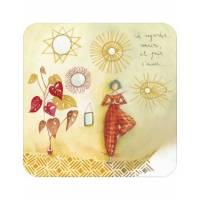 """Carte Anne-Sophie Rutsaert """"Se regarder, sourire, et puis s'aimer"""""""