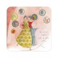 """Carte Anne-Sophie Rutsaert """"Ma couleur préférée? Celle de notre amitié"""""""