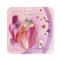 """Carte Anne-Sophie Rutsaert """"Que tu sois mon amie est un cadeau de la vie"""""""