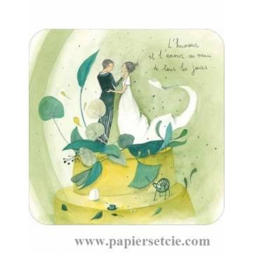 """Carte Anne-Sophie Rutsaert """"L'Humour et l'Amour au menu de chaque jour"""""""