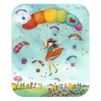 "Carte format ""Ecran"" Mila ""Happy Birthday Le Parapente"""