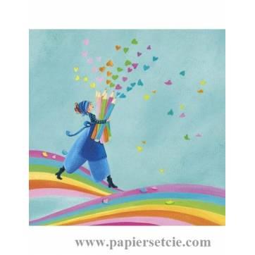 Carte Marie Cardouat Les crayons de couleurs
