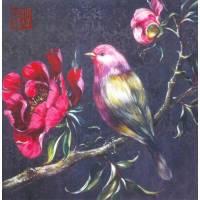 Carte d'art Gwenaëlle Trolez Sophie Addé Oiseau rose