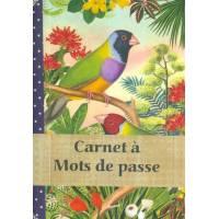 Carnet à mots de passe Gwenaëlle Trolez Oiseau muticolore
