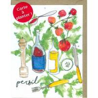 Carte à planter Hannah Marchant Recette graines de Persil