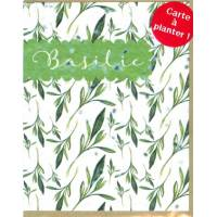 Carte à planter Hannah Marchant Feuilles basilic