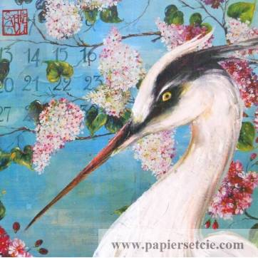 Carte d'art Gwenaëlle Trolez Sophie Addé Héron