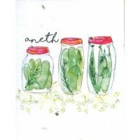 Carte à planter Hannah Marchant Bocaux, graines d'Aneth